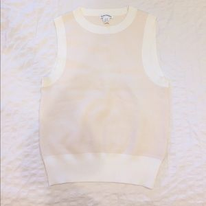 Club Monaco cream white sweater tank